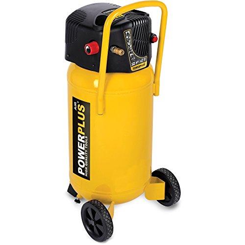 POWER plus POWX1750 POWERPLUS POWX1750-Compresor 1500w 50l sin aceite, 1500 W, 230 V, Gelb, X1750 (50 Liter)