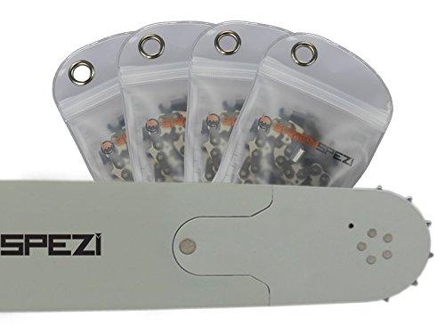 75cm Sägenspezi Schwert-Set Solid Drive mit 4 Vollmeißelketten 3/8' 98TG 1,5mm passend für Husqvarna 572XP
