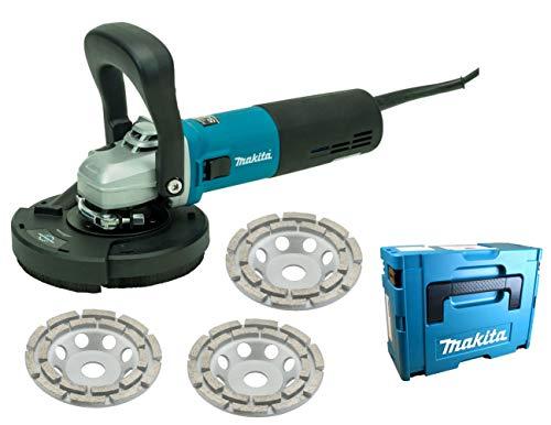 Betonschleifer/Sanierungsfräse/Putzfräse/Winkelschleifer-Set 125mm mit Drehzahlregelung