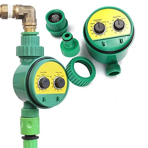 EEUK Bewässerungssteuerung, Automatische Bewässerung, Bewässerungscomputer, Bewässerungsuhr mit Automatische Programmierbarer Wasser Timer für Garten Gewächshaus Landwirtschaft