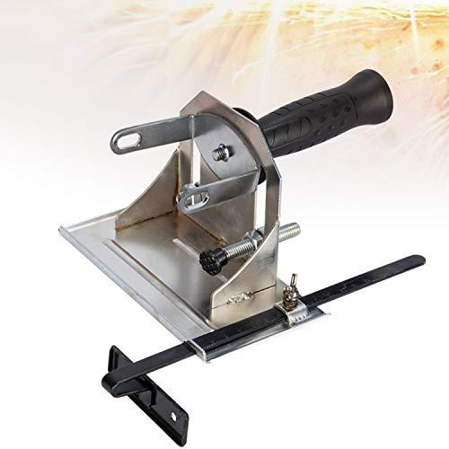HIMABeauty Einstellbarer Trennständer für Winkelschleifer, Multifunktionale Eisenbasis Winkelschleifer Ständer, Profi Trennständer für Winkelschleifer