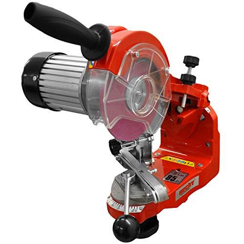 HECHT Sägeketten-Schärfgerät 9230 Kettenschärfer SET- Schleifkopf einstellbar mit Kettenspannvorrichtung und Skala , inkl. 2 Schleifscheiben (3,2mm + 4,7mm) Schleifhilfe + Schutzbrille, Schärfmaschine für Kettensägen