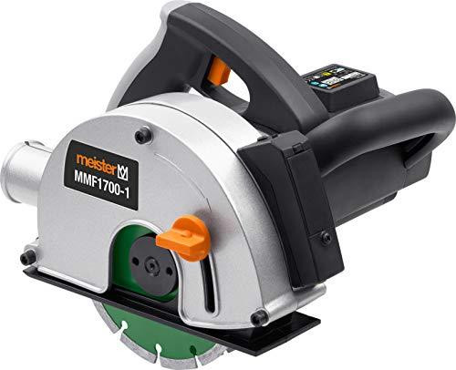 Meister Mauernutfräse 1700W, MMF1700-1 - Inkl. 2 Diamanttrennscheiben Ø 150 mm - Nutbreite bis 29 mm - 40 mm...