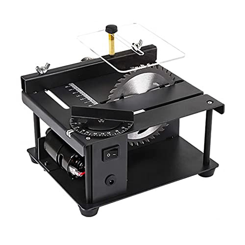 ZHJIUXING HO Multifunktion Mini TischkreissäGe,TischmüHle Zum Schneiden Von Winkeln,Schnitttiefe 35mm,7-Stufen-Geschwindigkeit,Den Manuellen Modellbau, Standard