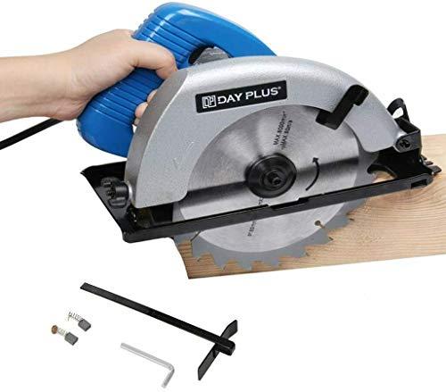 230V 900W Kreissäge, Tragbar Kabelgebunden Elektrisch Handkreissäge, Tauchkreissäge mit FührungsschieneSchnitttiefe: 90°: 55mm/45°: 38mm, Ideal für Holz, Kunststoff, Weichmetall, Kunststoff