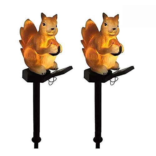 length 2 PC-Solar-LED-Eichhörnchen-Rasen-Licht, Solarkraft Pfad Lichter, Solar-Gartenleuchten Outdoor, Landschaft Beleuchtung for Garten/Terrasse/Garten/Fußgängerweg/Auffahrt