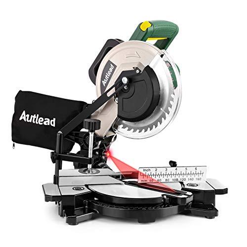 Gehrungssäge, AUTLEAD Kappsäge 1200W 4900U mit Laser, 0°-45° Gehrungsschnitt, ±45° Drehtisch mit...
