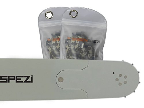 70cm Sägenspezi Schwert-Set Solid Drive mit 2 Vollmeißelketten 3/8' 93TG 1,5mm passend für Husqvarna 562XP