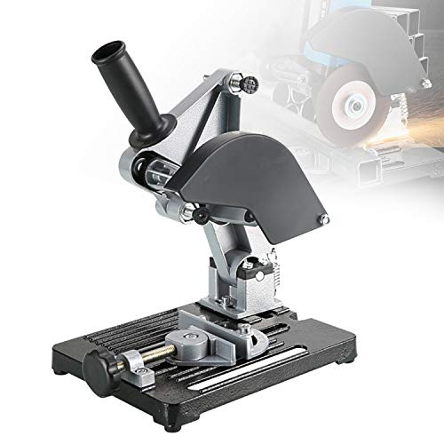HIMABeauty Multifunktionale Eisenbasis Winkelschleifer Ständer, Trennständer Winkelschleifer, Aluminum Bracket Iron Base Cutting Machine Metalworking Hand Power Tool Angle Grinder Stand