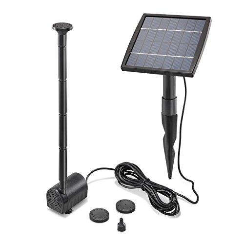 Solar Teichpumpe 1,5 Watt Solarmodul 140 l/h Förderleistung 80 cm Förderhöhe esotec pro Komplettset...