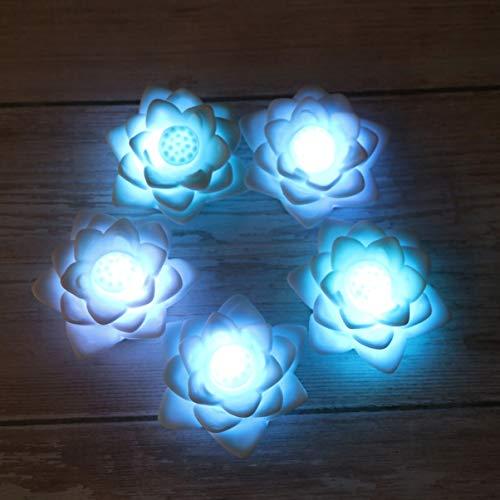 OSALADI LED Lotus Laterne Bunte Seerose Nachtlicht Blume Laternen Home Decor für Festival Party 5 stücke
