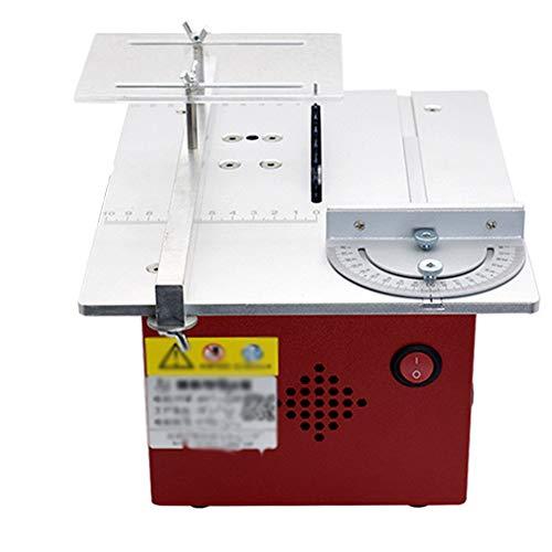 Mini Tischkreissäge, Tischsägen Für Die Holzbearbeitung Einstellbare Sägeblatthöhe 9000R / MIN 360W 7-Gang-Einstellung,E