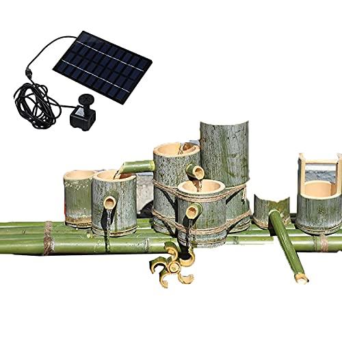 Solarbrunnen Wasserspiele für den Garten Solarbetriebenes Bambusrohr Fließendes Wasser Dekoration, Pumpwagen, Landschaft ohne Plug-in, Landschaftssteinhandwerk,11