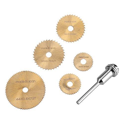 Weiyiroty DIY Allzweck-Tischkreissägeblätter Hochgeschwindigkeits-Stahlschneidklinge 6-teiliges Sägeblatt, Schneidsägeblatt-Set, für Metall-Drehscheibenrad