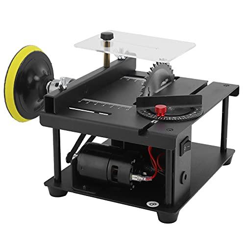 Mini Tischkreissäge, Tischkreissäge Tragbare elektrische Tischkreissäge Haushalt DIY Schneidwerkzeuge 100W 100-240V(European regulations)