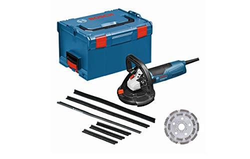 Bosch Professional Betonschleifer GBR 15 CAG (1.500 Watt, Leerlaufdrehzahl 9.300 min-1, Diamanttopfscheibe 125 mm, 3x Ersatzbürstenkranz, in L-BOXX)