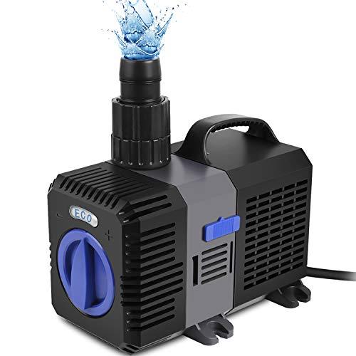 Forever Speed Super ECO Teichpumpe Filterpumpe Energiespar Wasserpumpe Koiteich Bachlaufpumpe (3000-12000L/H) 3600L/H …