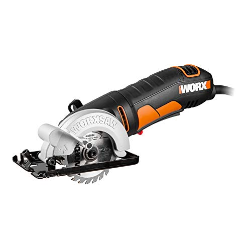 WORX 400W Kreissäge WORXSAW WX423.1 85mm, 27mm Max, Absaugadapter, Bequeme Handhabung, Sägeblätter zum...