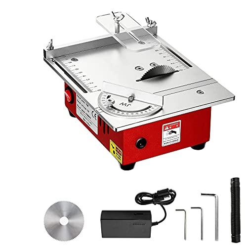 YCRD 7.8 Zoll Mini-tischkreissäge, 96w Tischkreissäge, Präzisionsschneider für die Heimwerker-Holzbearbeitung, Kleine Schneidemaschine 9200 / min, für Holz, Kunststoff, Jade, Metall Usw,Estándar