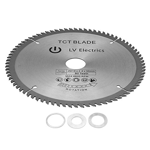 Delaman Kreissägeblätter 210mm x 30mm für Metall Holz Stein Glas Kunststoff Cordless Cutting Saw Disc 80T...