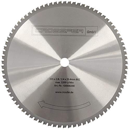 HM Kreissägeblatt 355 x 25,4 mm 80Z Universal für Metall und Kunststoff, hartmetallbestücktes Sägeblatt...