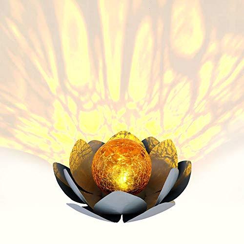 LED Solar Außen Lampe Lotos Blume Garten Beleuchtung Seerosen Design Leuchte 25 cm Globo 33532