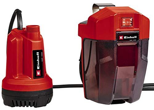 Einhell Akku-Klarwasserpumpe GE-SP 18 Li - Solo Power X-Change (Lithium-Ionen, Fördermenge 5000 l/Std., 4 m max. Eintauchtiefe, flexible Batteriebox, ohne Akku und Ladegerät)