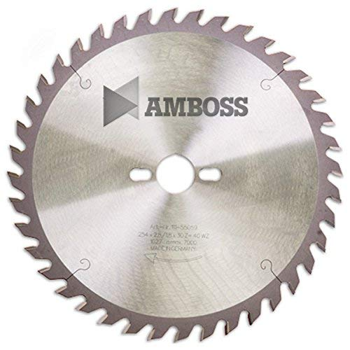 Amboss - HM Tischkreissägeblatt für Holz - Ø 254 mm x 2,8 mm x 30 mm   Geeignet für Bosch GTS 10 oder Metabo TS254   Wechselzahn (40 Zähne)