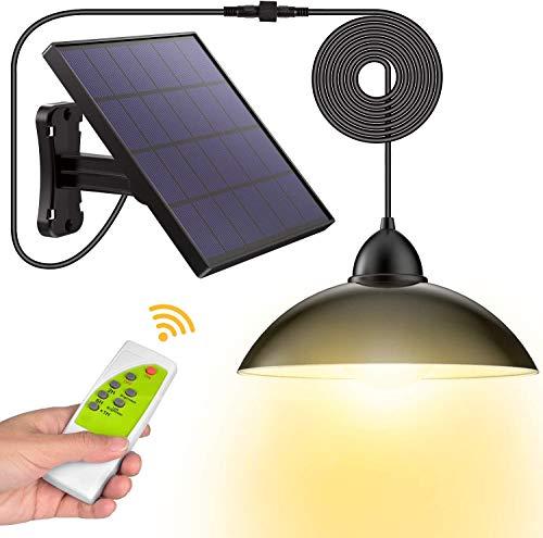 Solarlampen für Außen, LOZAYI Solar Hängelampe mit Fernbedienung,5m Kabel,180 ° Einstellbares...