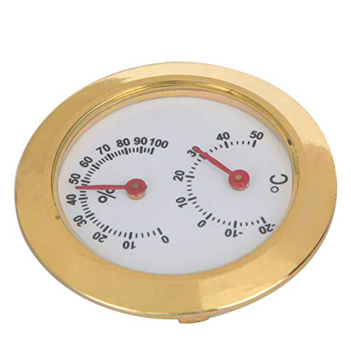 Effizient. Temperatur- und Feuchtigkeitsmessgerät für Musikerliebhaber. Zur genauen Messung von Temperatur und Luftfeuchtigkeit im Innen- und Außenbereich.(Golden)