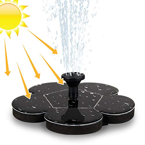 Migimi Solar Springbrunnen, Solar Teichpumpe Outdoor Schwimmender Fontäne Pumpe mit 1.4W Monokristalline...