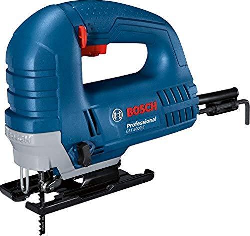 Bosch Professional Stichsäge GST 8000 E (inklusive 1x Sägeblatt T144 D, Spanreißschutz, im Karton)