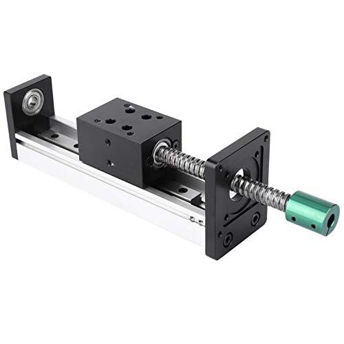 Führungsschiene Aluminium-Führungsschiene 500 mm hochpräziser linearer Schienenblock(1204 screw, effective...