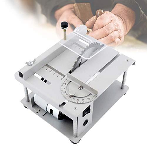 ZPCSAWA Mini DIY TischkreissäGe, Multifunktionale Professional Holzsäge, Schnitthöhe 35mm, 3000r/ min, 90°, für die DIY-Holzbearbeitung Modellhandwerk