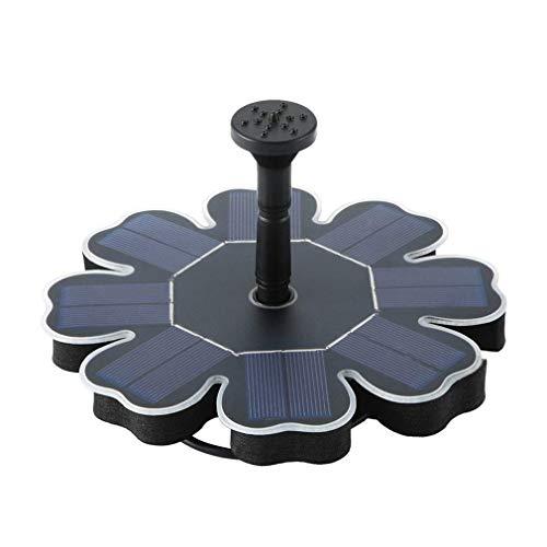 PREUP Solar Springbrunnen, Solar Teichpumpe Garten Wasserpumpe mit 1,6W Monokristalline Solar Panel Brunnen,...
