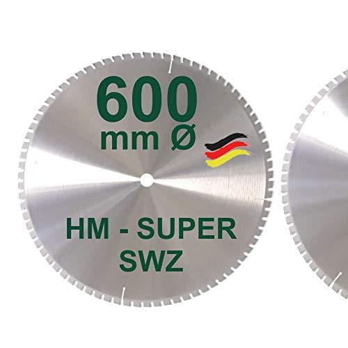 HM Kreissägeblatt 600 x 30 Z= 78 SWZ SUPER nagelfest Sägeblatt 600mm für Bauholz Naturholz Brennholz...