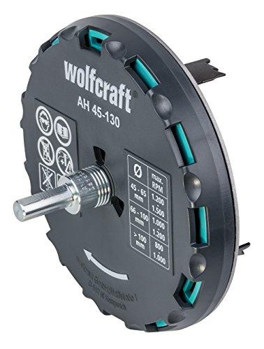 wolfcraft Lochsäge 5978000 – Verstellbarer Universal-Kreisschneider für den Akkuschrauber und die...