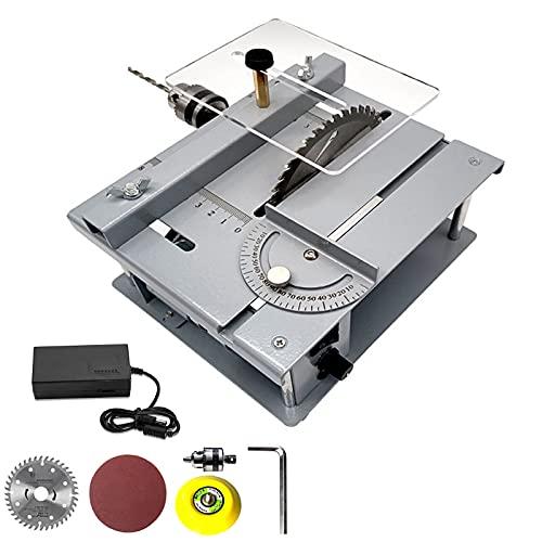 YCRD 150W Tragbare Tischkreissäge, 7,5 Zoll Mini Präzisions Kreissäge, für DIY Manuelles Modell, Apply to Leiterplattenschneiden, Kleines Kunststoff-metallschneiden,Standard Version