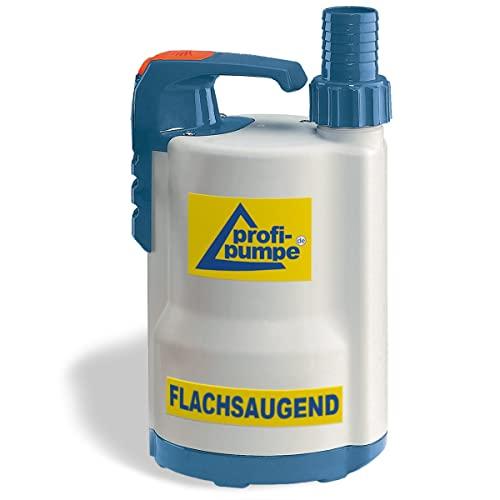 Flachsaugende Schmutzwasser Tauchpumpe DRAINAGEPUMPE FÄKALIENPUMPE TROPFKÖRPERPUMPE DRAIN-TOP-2-370 als Gartenpumpe zum Bewässern/Entwässern Regenfasspumpe, EU-Qualitätprodukt