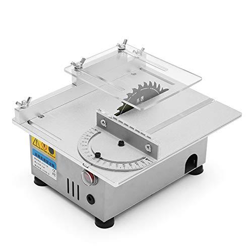 Wenhu T4 Mini Tischkreissäge Handgefertigte Holzbearbeitungsdrehbank Elektro Polierer Grinder DIY Rundschneide Sägeblatt