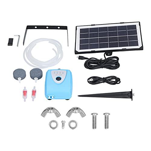 Solar-Teichpumpe, AP008 3.5W 3.0-4.25V Solarbetriebene Sauerstoffversorgung Wasser-Luftpumpe Teichbelüfter Außenpool Sonnenbetriebene Sauerstoffversorgung