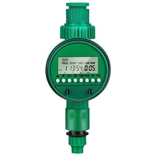 Bewässerungscomputer, opamoo Bewässerungsuhr mit Automatische Programmierbarer Wasser Timer, LED Display Wasserdichtem Wasserzeitschaltuhr für Garten Gewächshaus Landwirtschaft(16 Programmes)