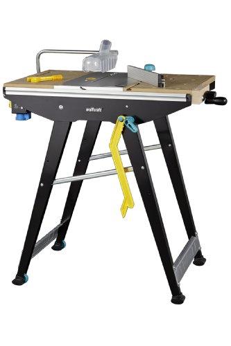 Wolfcraft MASTER Cut 1500 Werk- und Maschinentisch 6906000 inkl. Zubehör | Kompatibel mit Handkreissägen,...