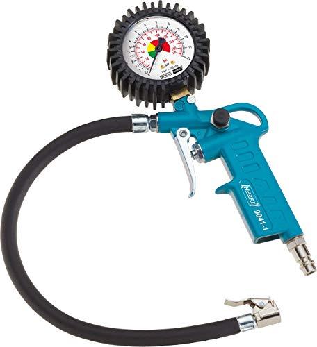 HAZET Reifenfüll-Messgerät (Manometer-Messbereich 0-12 bar, Schlauchlänge 400 mm, Manometer-Durchmesser: 63...