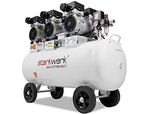 2250 Watt Leistung !69 dB! ölfrei 100 L Kessel 8 Bar Flüsterkompressor Druckluftkompressor Kompressor Silent...