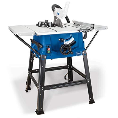 Scheppach Tischkreissäge HS100S (2000W, Sägeblatt Ø250mm, Schnitthöhe 85mm, Tischgröße mit Verbreiterung...