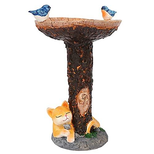 NRRN Vogeltränke Stützen für Garten, Badewanne für Wildvögel, freistehend, wetterfest, Wasserspiel für Zuhause