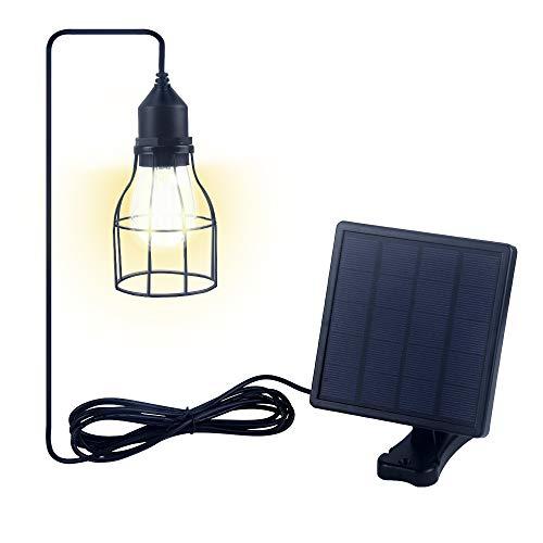 Jolicobo LED Solarlampen Solar Hängeleuchte 2 Modi IP65 Wasserdicht Solar Pendelleuchte Hängelampemit...