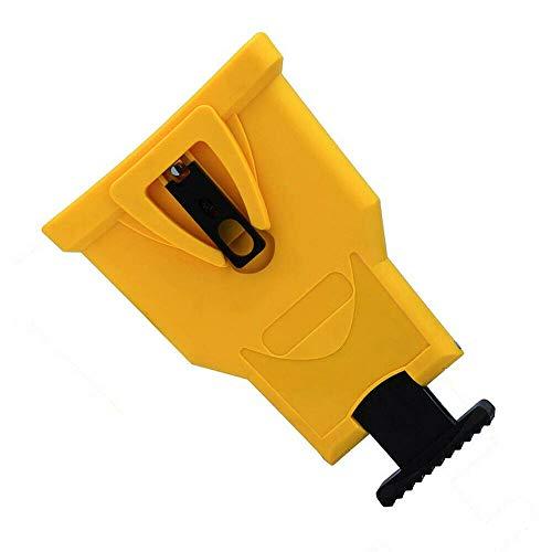 4x Kettenschärfgerät Kettensägen Schärfer Führungsschienenschleifwerkzeuge Gelb