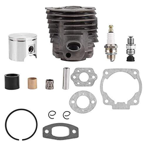 ZJL220 1 Satz Durchmesser 46 mm Kettensägen Zylinder- und Kolbensatz Passend für 50 51 52cc Kettensägen-Ersatzteile für Benzin- / Ölkettensägen